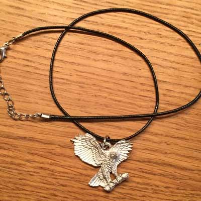 flygande örn flygande uggla smycke arcticart örjansfiske halsband