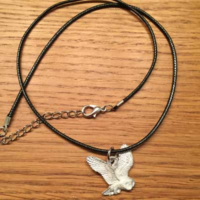 flygande uggla smycke arcticart örjansfiske renhalsband