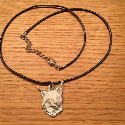 Lodjur flygande uggla smycke arcticart örjansfiske halsband