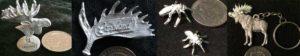 arcticart pins smycke nyckelring brosch mygga
