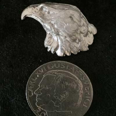 Örnhuvud pins smycke tennsmycke arcticart articart örjansfiske