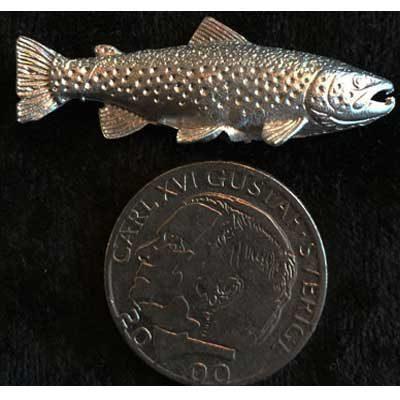 pin pins öring mindre tennsmycke arcticart arcticarts örjansfiske