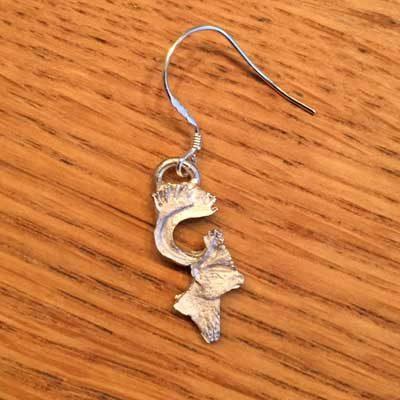 örhänge smycke litet renhuvud örjansfiske arcticart