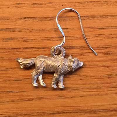 örhänge smycke liten varg örjansfiske arcticart