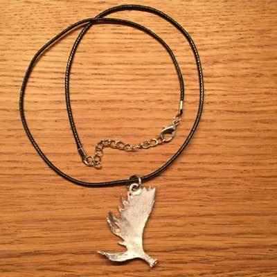 halsband älghorn arcticart örjansfiske tennfigur