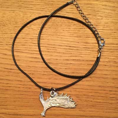 halsband älghorn arcticart örjansfiske tennfigur lappland