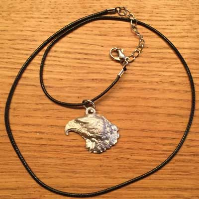 halsband örnhuvud halsband älghorn arcticart örjansfiske tennfigur Lappland