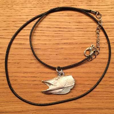 halsband gädda halsband arcticart örjansfiske tennfigur Lappland smycke