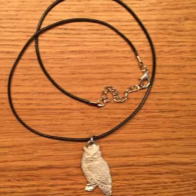 halsband uggla arcticart örjansfiske tennfigur