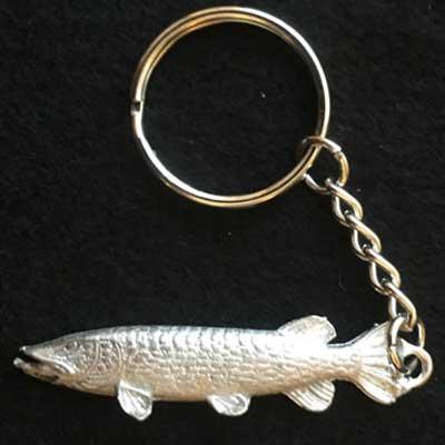 gädda. Nyckelring gädda,Örjansfiske.Arcticart
